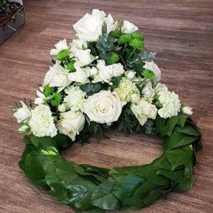 Stilfuld begravelseskrans