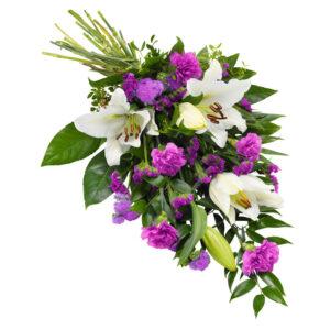 Bårebuket fra Aarstidens Blomster