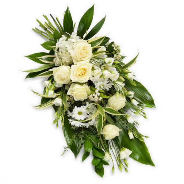Klassisk Bårebuket fra Aarstidens Blomster