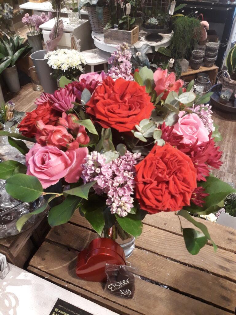 Aarstidens Blomster Valentines buket