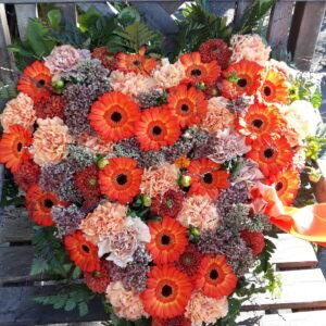 Hjerte orange Aarstidens Blomster