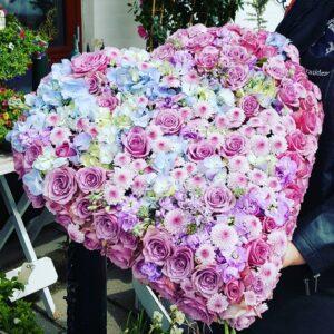 Stort hjerte Aarstidens Blomster