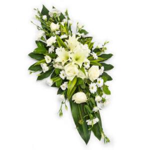 hvid dekoration Aarstidens Blomster Euroflorist