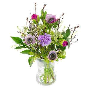 Skønhed lilla buket Aarstidens Blomster